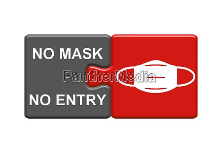 no mask no entry red