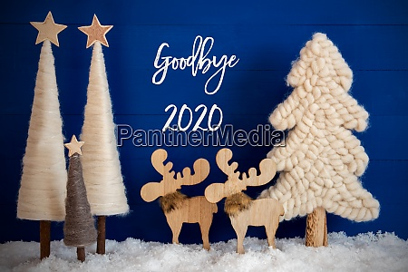 christmas tree moose snow text goodby
