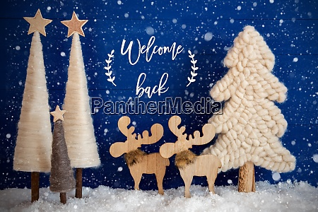 christmas tree moose snow text welcome