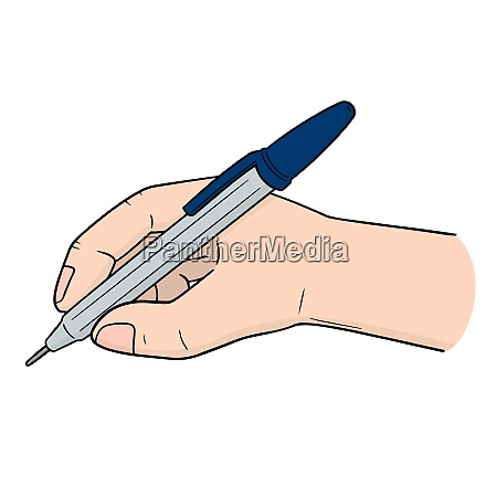 vector set of hand writing with