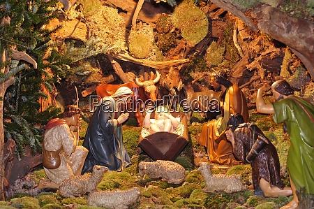 christmas crib or nativity scene