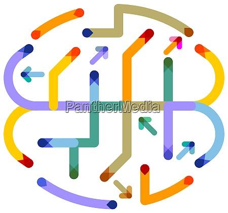 development of brainstorming communication graphic