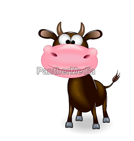 kind smiling black bull