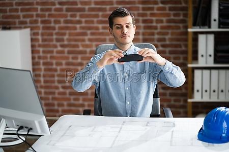 scanning blueprint plan document using phone