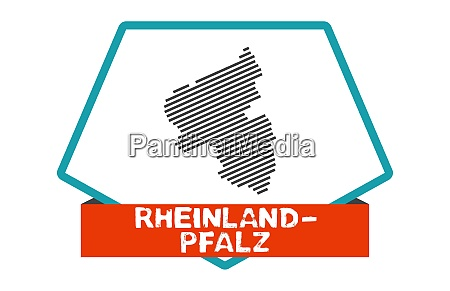 rheinland pfalz map on blue red