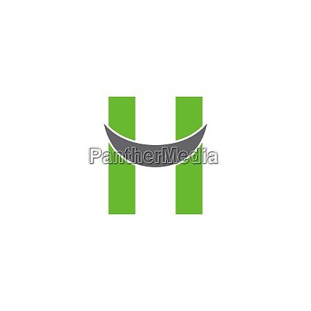 letter h logo icon design concept