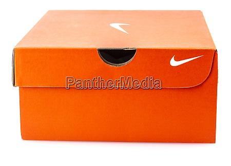 nike shoes box isolated on white