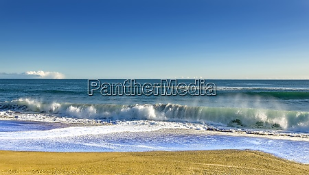 landscape summer beach background with sunny