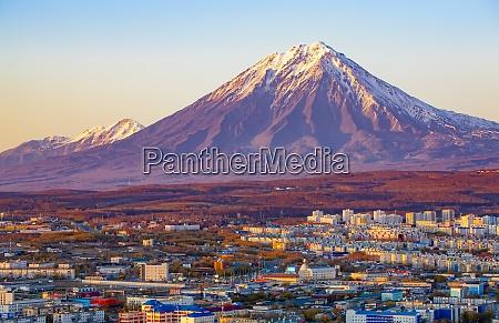 panoramic view of the city petropavlovsk