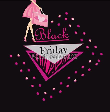 black friday decorative sale card