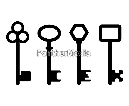 keys icon set collection of door