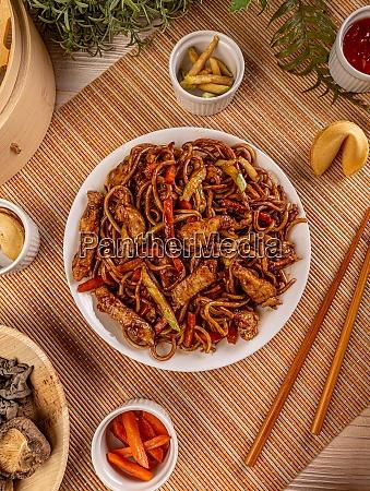 chicken in spicy brown sauce