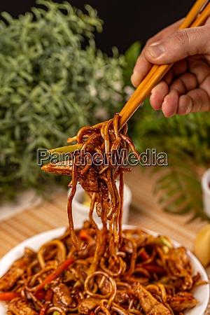stir fried noodles dish