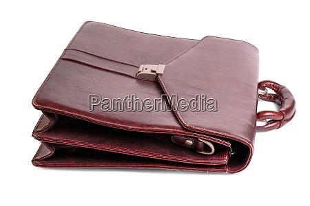 luxury business brown brief case on