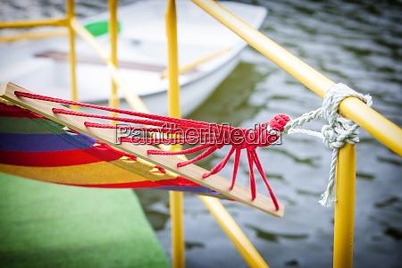 the backyard rope hammock held by