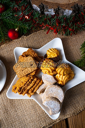 different types of biscuits with rustic