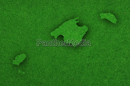 map of balearic islands on green