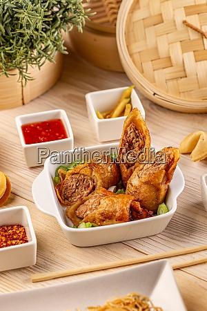 fried meat rolls