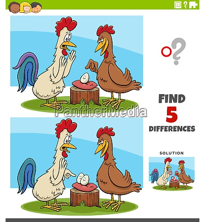 differences educational task for kids with