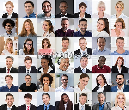 multicultural faces photo collage portrait