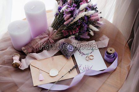 elegant bridal bouquet of dried flowers