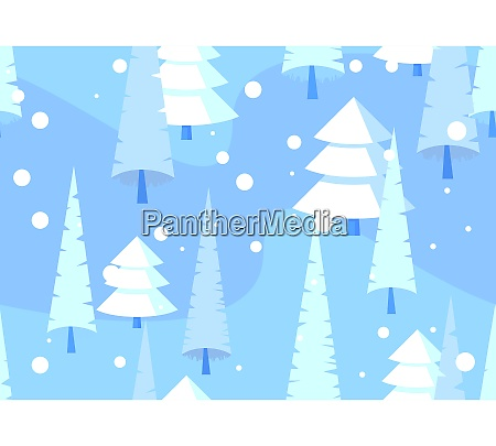 abstract, seamless, pattern, , winter, forest, background. - 29096639