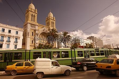 tunisia tunis city cathedral church