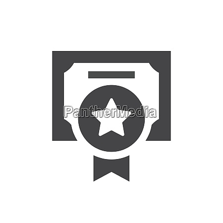 quality certificate black vector icon