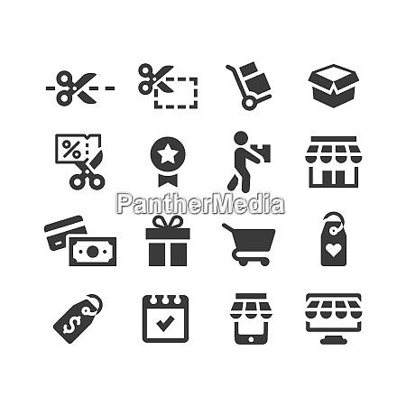 shopping or e commerce vector icon