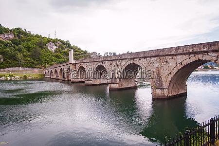 historic bridge over the drina river