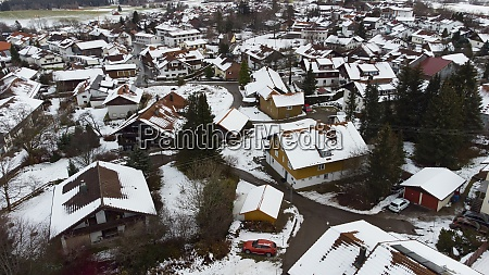 a small town in wintry bavaria