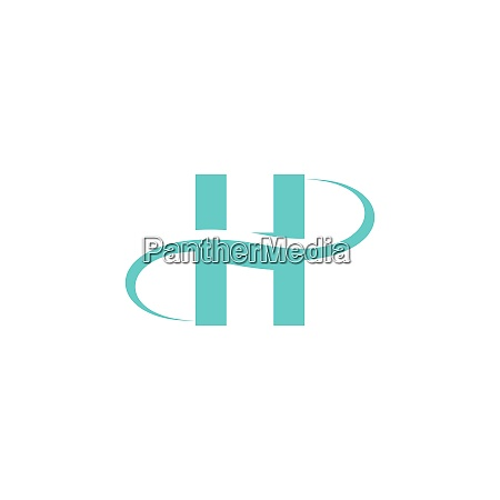 letter h logo icon design vector