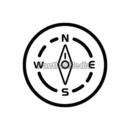 compass north direction weather icon in