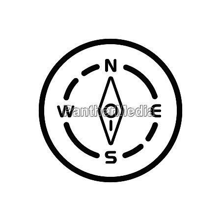 compass south direction weather icon in