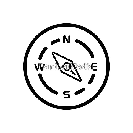 compass., south, east, direction., weather, icon - 29103973