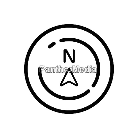north, direction., weather, icon, in, a - 29103986