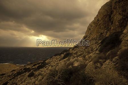 cyprus cap greco coast cliff