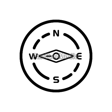 compass., west, direction., weather, icon, in - 29104051