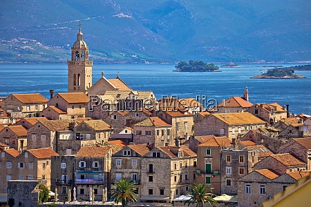 historic town of korcula architecture view