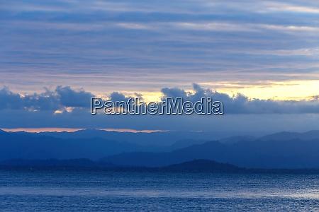 idyllic sunset over indian ocean madagascar