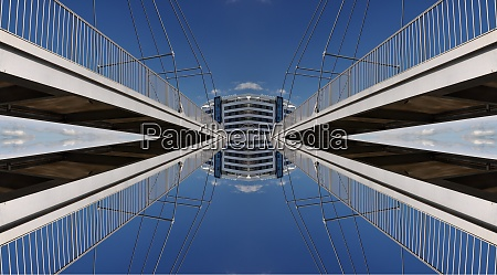 bridge abstract mirrored