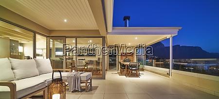 luxury home showcase exterior patio at