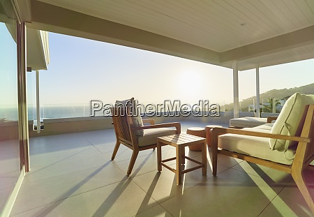 scenic sunset ocean view from luxury