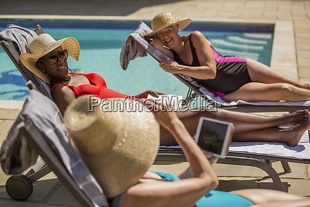 happy senior women friends on holiday