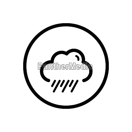 rain and cloud weather icon in