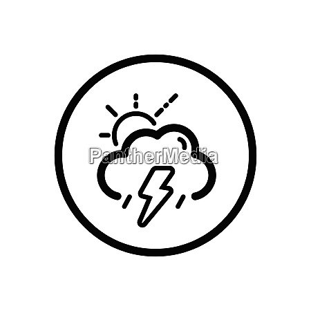 storm cloud and sun weather icon