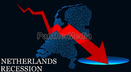 netherlands map with red arrow indicated