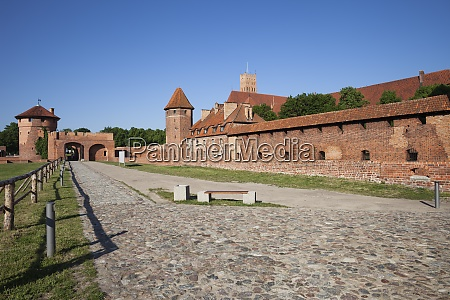 poland malbork castle road and alley