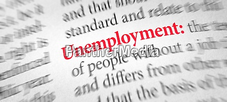 definition of the word unemployment in