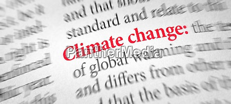 definition of the word climate change